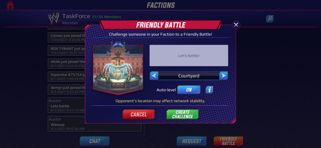 How to Start Faction Friendly Matches